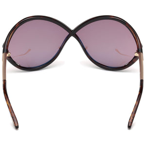 Tom Ford Liora Oversize Women's Sunglasses Purple Lens | Back