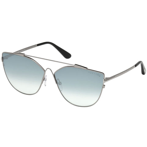 Tom Ford Jacquelyn Women's Sunglasses W/Blue Mirrored Lens FT0563 14X