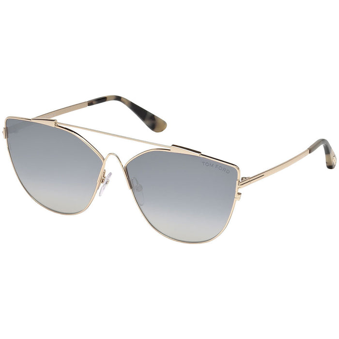 Tom Ford Jacquelyn Women's Sunglasses W/Smoke Mirrored Lens FT0563 28C