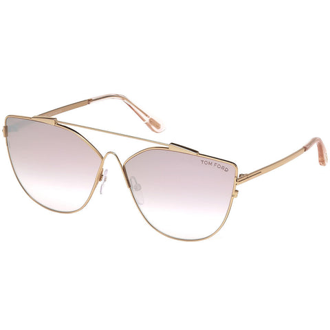 Tom Ford Jacquelyn Women's Sunglasses W/Violet Mirrored Gradient LensFT0563 33Z