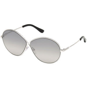 Tom Ford Rania Round Women's Sunglasses Smoke Mirror Lens