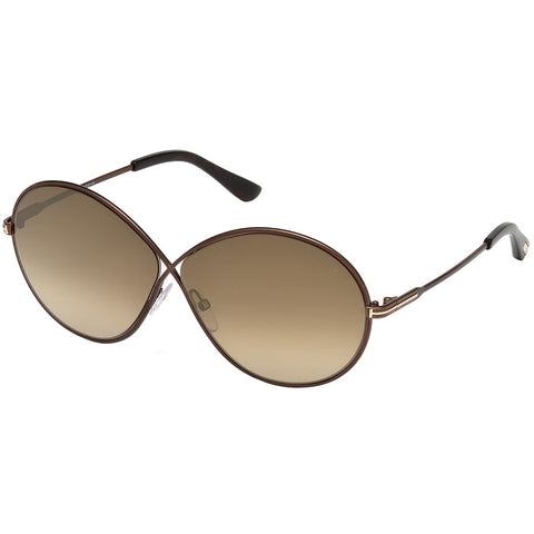 Tom Ford Rania Women's Sunglasses w/Brown Mirrored Lens FT0564 48G
