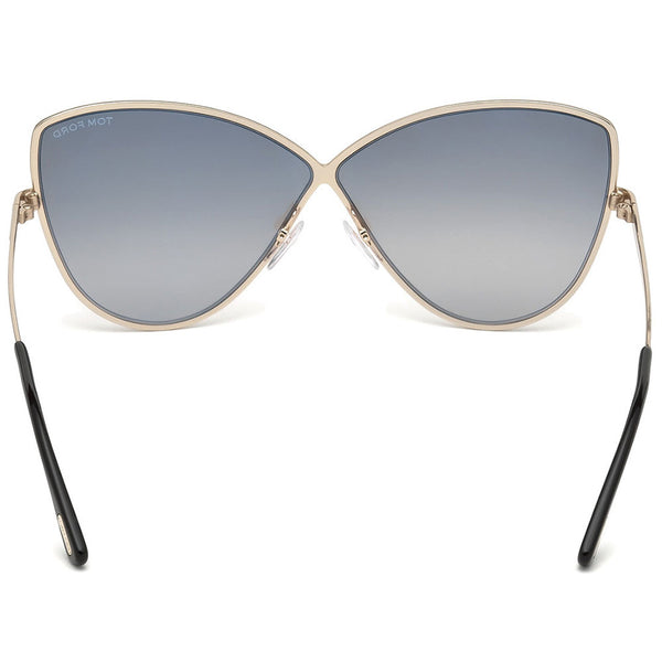 Tom Ford Elise Cat Eye Women's Sunglasses Grey Lens | Back