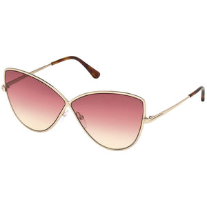 Tom Ford Elise Cat Eye Women's Gradient Sunglasses Pink Lens
