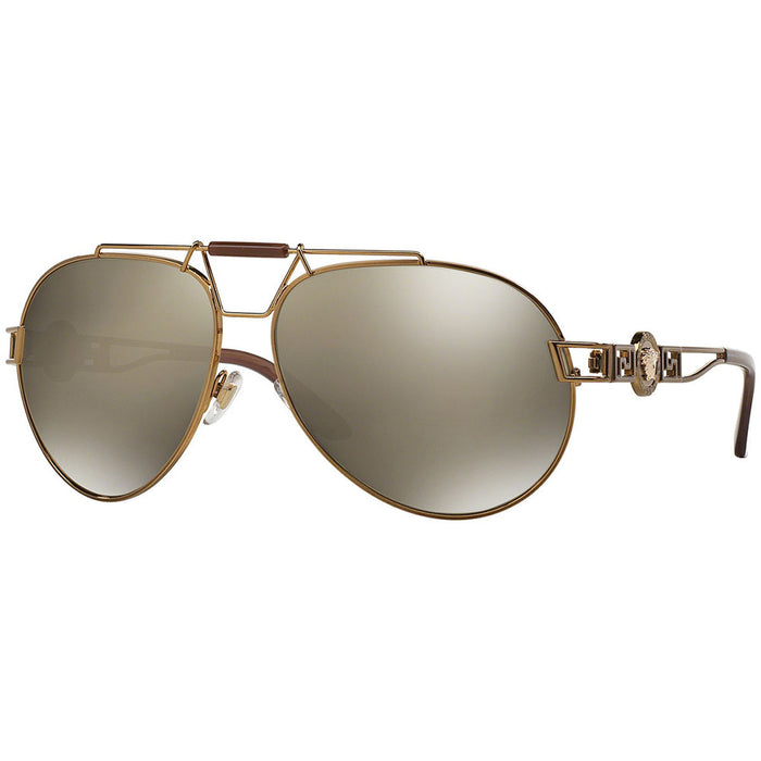 Versace Women's Sunglasses w/Gold Brown Mirrored Lens VE2160 13485A