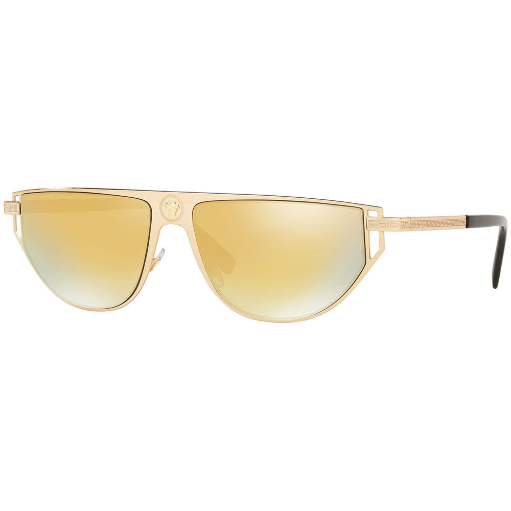 Versace Men's Rectangular Sunglasses w/Gold Mirrored Lens VE2213 10027P