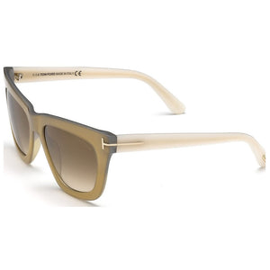 Tom Ford Celina Square Women's Sunglasses Brown Lens | Side