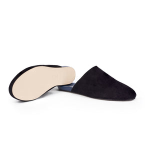 Men's Slider Black Suede
