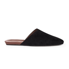 Women's Slider Black Suede