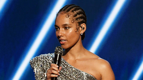 Alicia Keys Braids | Cornrows in a Bun