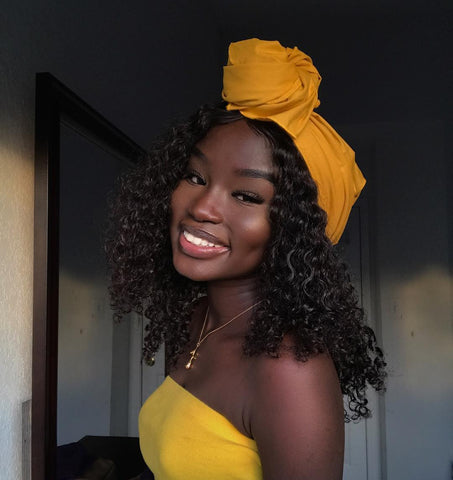 Brown Skin Girl | Black Women| Black women with turban | Natural Born Curls