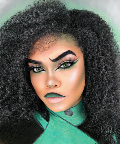 Shego - Kim Possible Costume - Natural Hair Halloween Costume Ideas