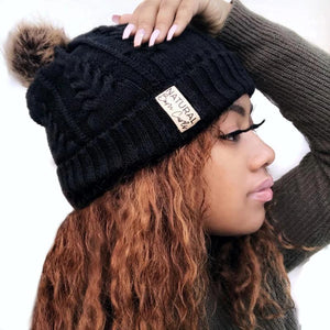 Satin Lined Winter Hat |  Beanie