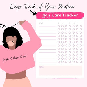 My Hair Routine: The Natural Hair Planner ( Digital  & Printable Planner)