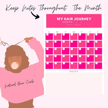 Load image into Gallery viewer, My Hair Routine: The Natural Hair Planner ( Digital  & Printable Planner)