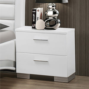 Jeslyn White Collection nightstand