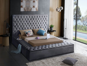 Claire Velvet Tufted Bed