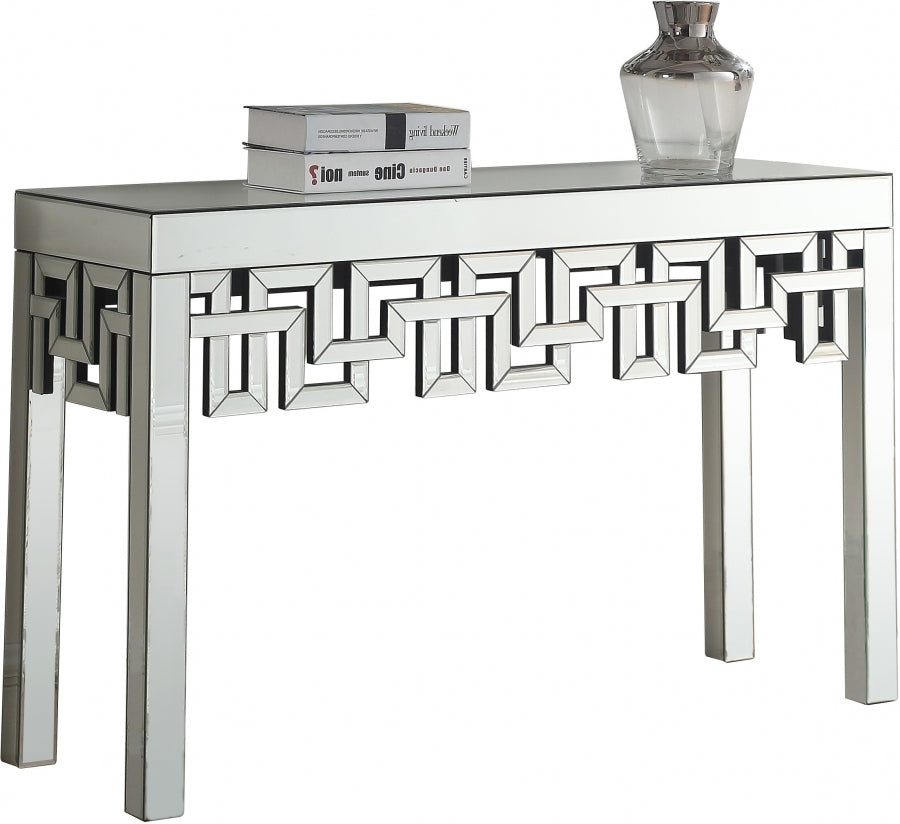 Irelyn Mirrored Console Table