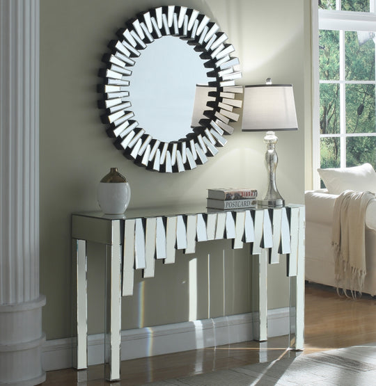 Haven Mirrored Console Table with mirror