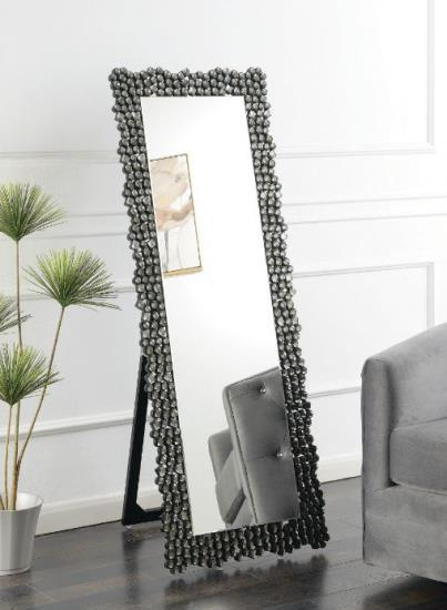 Silver Smokey Grey Floor Mirror
