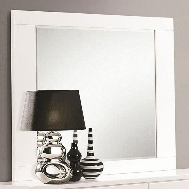 Jeslyn White Collection mirror