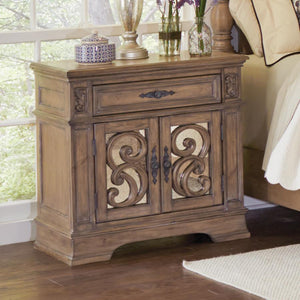 Aquiles Antique Linen Nightstand