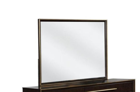 Sandy Smoked Dark Espresso Mirror