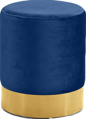 Stacy Velvet Ottoman (Gold)