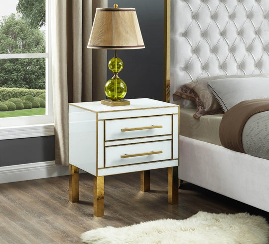 Lyanna Nightstand with decorations