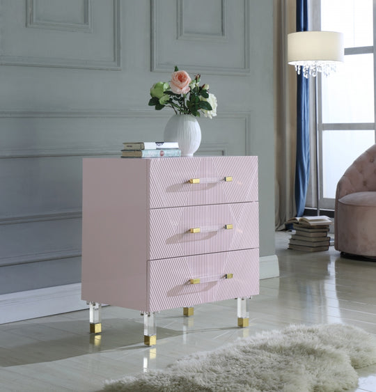 Octavia Nightstand pink with decorations
