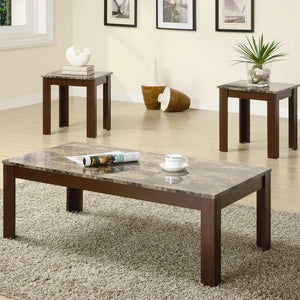 Tiger Marble 3pc Coffee Table Set