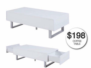 Carla White Coffee Table