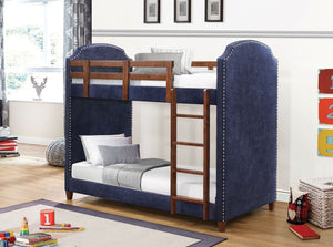 Tony  Navy Blue Twin/Twin Bunkbed