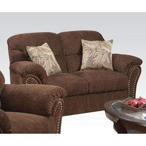 Aly Dark Brown Loveseat