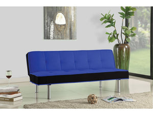 Ellie Blue & Black Futon