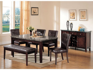 Britney Marble 6PC Dining Set