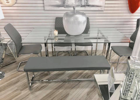 Maribel Grey 5PC Dining Set