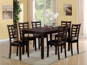 Elena Espresso 7PC Dining Set