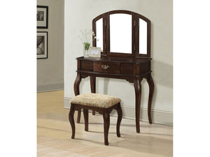 Catalina Cherry Vanity & Stool