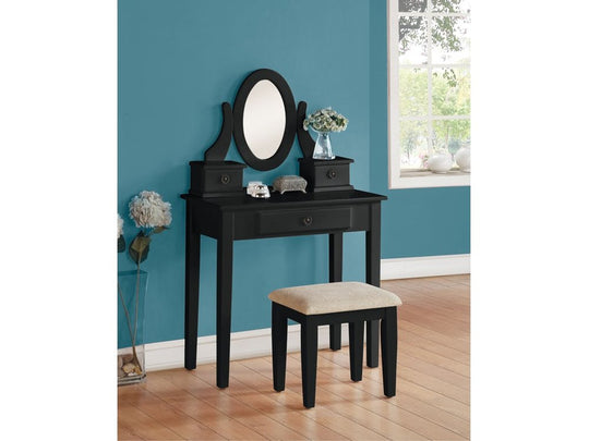 Anne Black Vanity Set