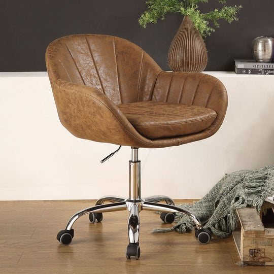 Eudora Brown Office Chair