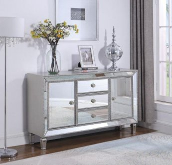 Doris Mirror Accent Cabinet