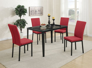 Adina Red and Black 5PC Dining Setk