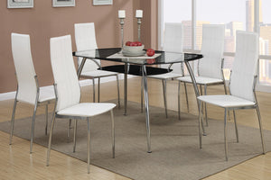 Alana White & Black 5PC Dining Set