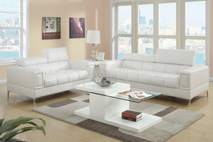 Amy White Sofa & Loveseat Set