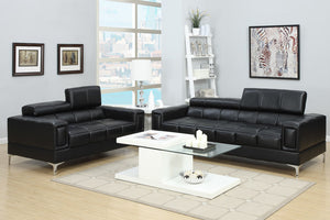 Amy Black Sofa & Loveseat Set