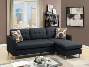 Ashley Black Polyfiber Sectional