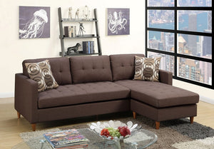 Ashley Chocolate Polyfiber Sectional
