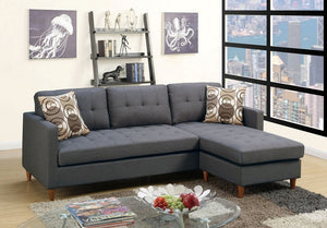 Ashley Blue Grey Polyfiber Sectional
