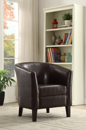 Brenda Chocolate Accent Chair